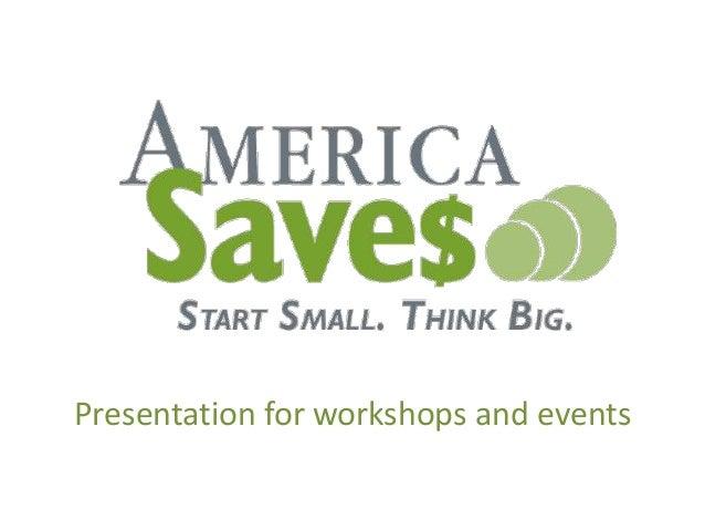 America Saves Week Presentation for Individuals