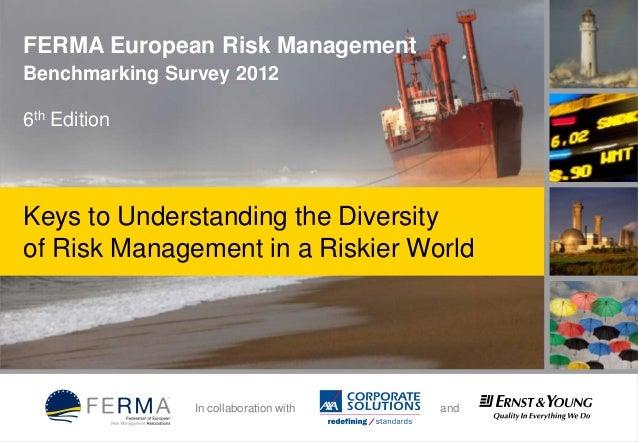 FERMA European Risk Management Benchmarking Survey 2012