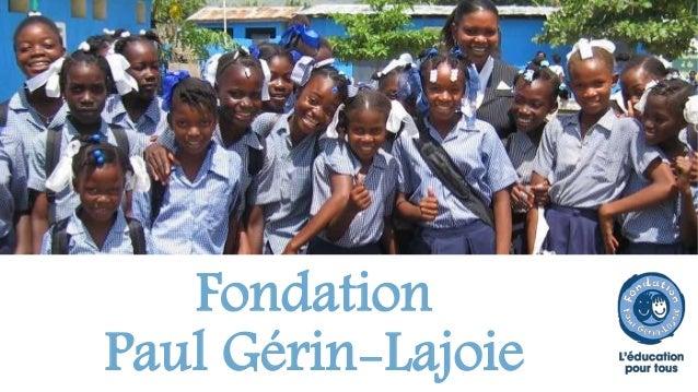Fondation  Paul Gérin-Lajoie