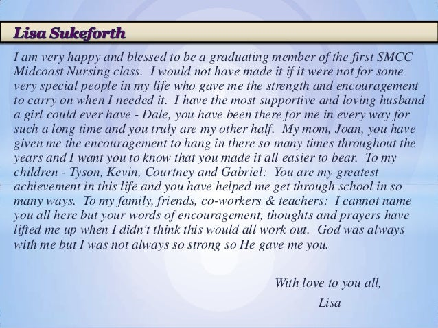 A Very Special Graduation Speech advise