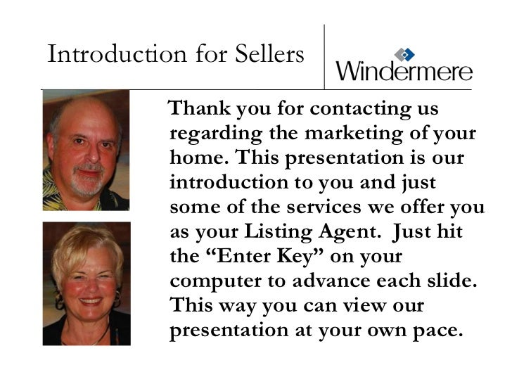 Power Point Presentation For Sellers