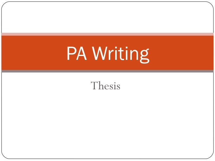 Session #2 - Thesis Writing