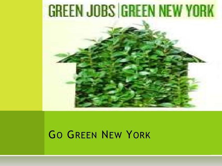 Go Green New York<br />