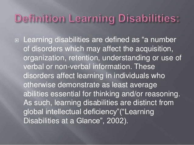 learning disabilities essay papers Sample of learning disabilities and early intervention essay (you can also order custom written learning disabilities and early intervention essay.