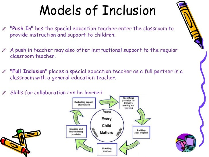 Collaborative Classroom Special Education ~ Powerpoint inclusion in the classroom final nancy schwarz