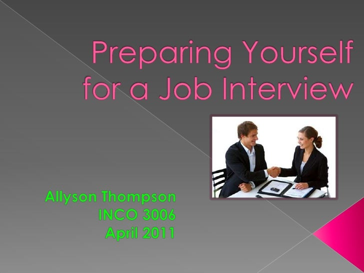Preparing Yourself for a Job Interview