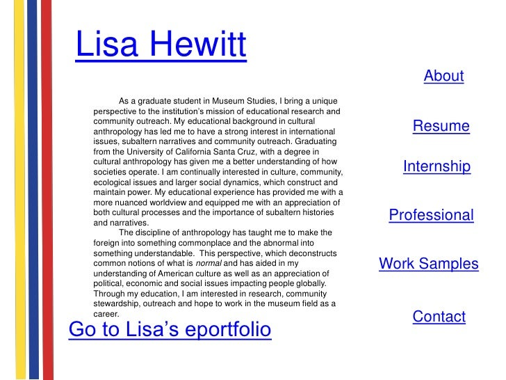 Lisa Hewitt                                                                               About          As a graduate stu...