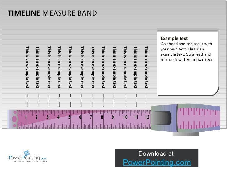 TIMELINE  MEASURE BAND This is an example text.  This is an example text.  This is an example text.  This is an example te...