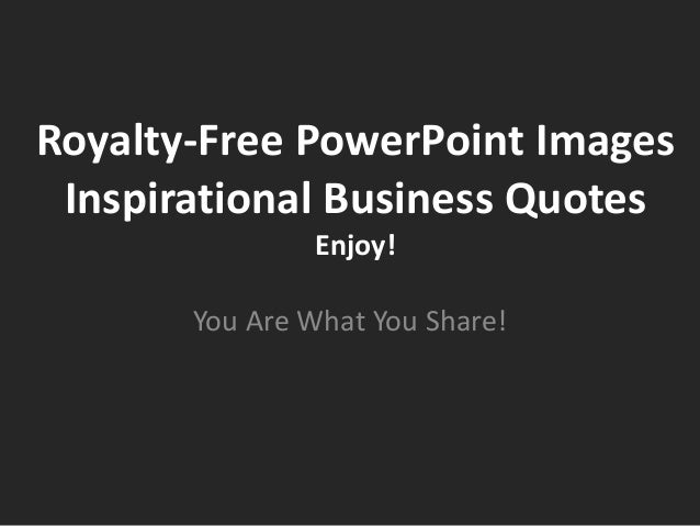 powerpoint inspirational business quotes 2014
