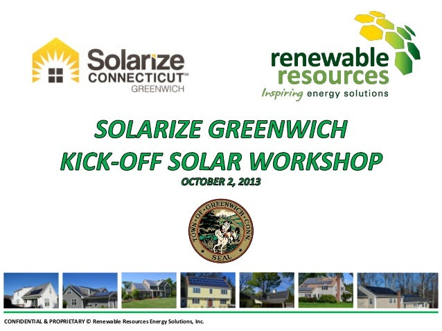 Solarize Greenwich Launch Meeting Slide Show