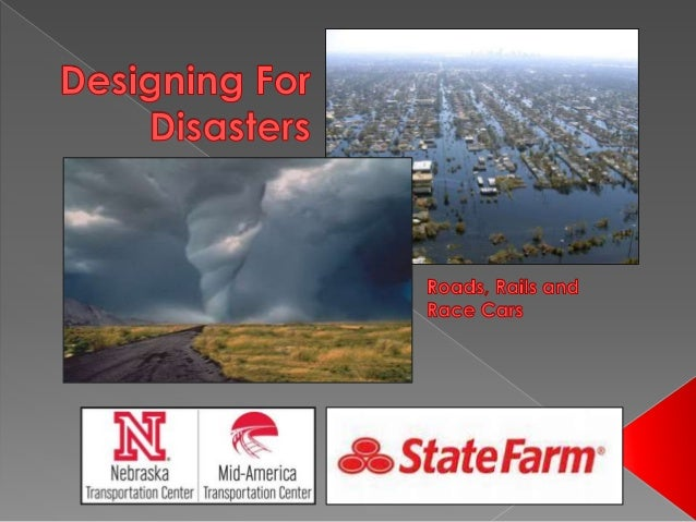  Engineers have to consider natural disasters when designing projects.  Why do you think engineers have to design for di...
