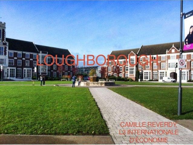 LOUGHBOROUGH CAMILLE REVERDY, L3 INTERNATIONALE D'ÉCONOMIE