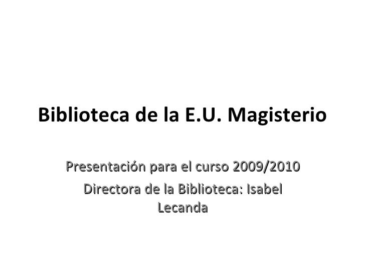 Power Point Magisterio 09