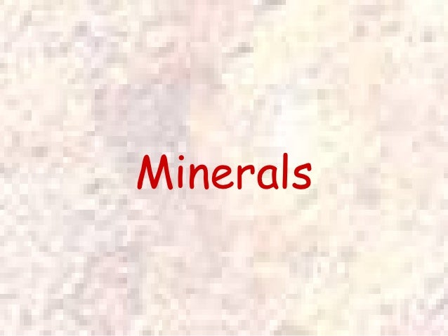 Power point mineral notes