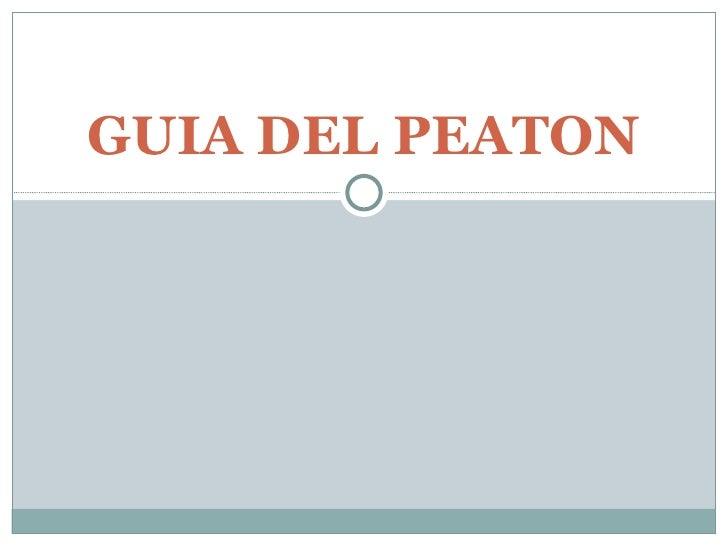 GUIA DEL PEATON