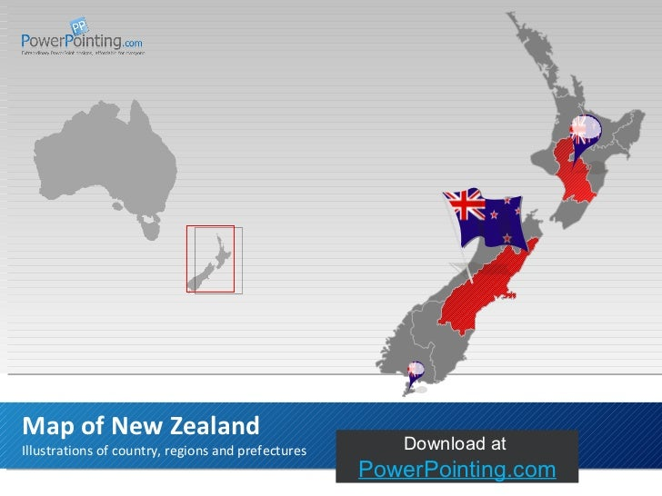 Illustrations of country, regions and prefectures Map of New Zealand Download at  SlideShop.com