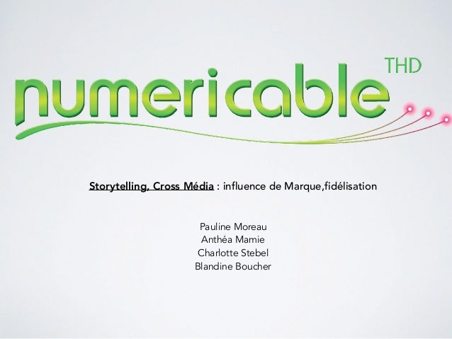 Storytelling, Cross Média : influence de Marque,fidélisation Pauline Moreau Anthéa Mamie Charlotte Stebel Blandine Boucher
