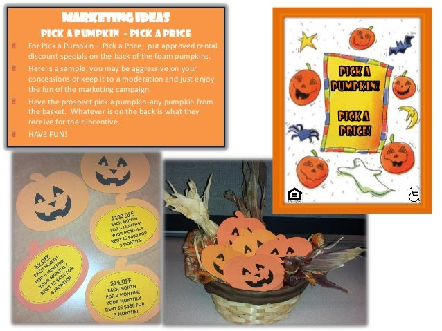 october themed apartment marketing ideas low cost