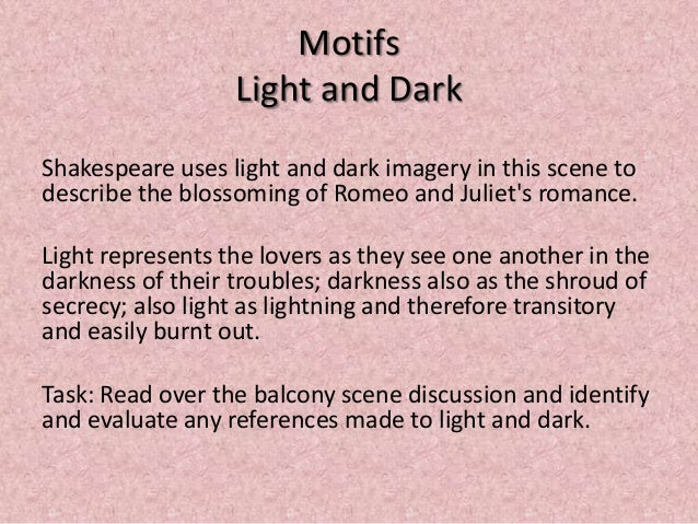 Light And Dark Imagery In Romeo And Juliet