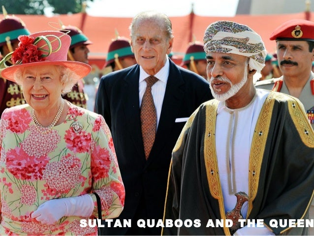 SULTAN QUABOOS AND THE QUEEN