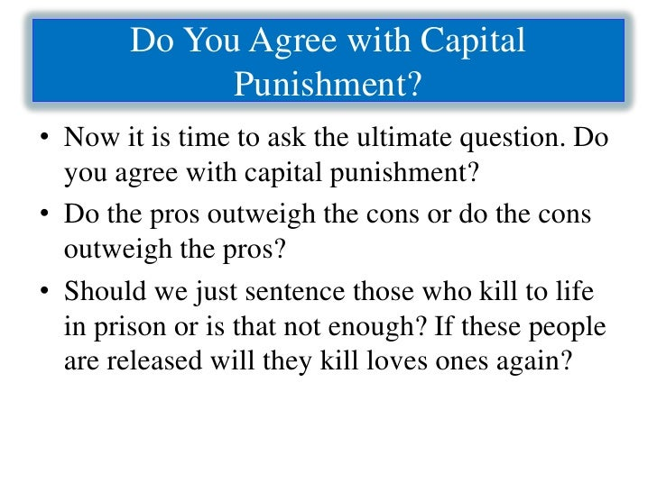 an argument in favor of capital punishment abolishment