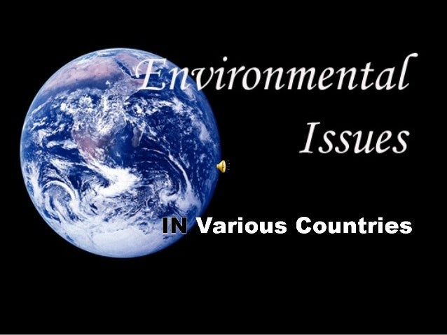 Powerpoint on environmental issues