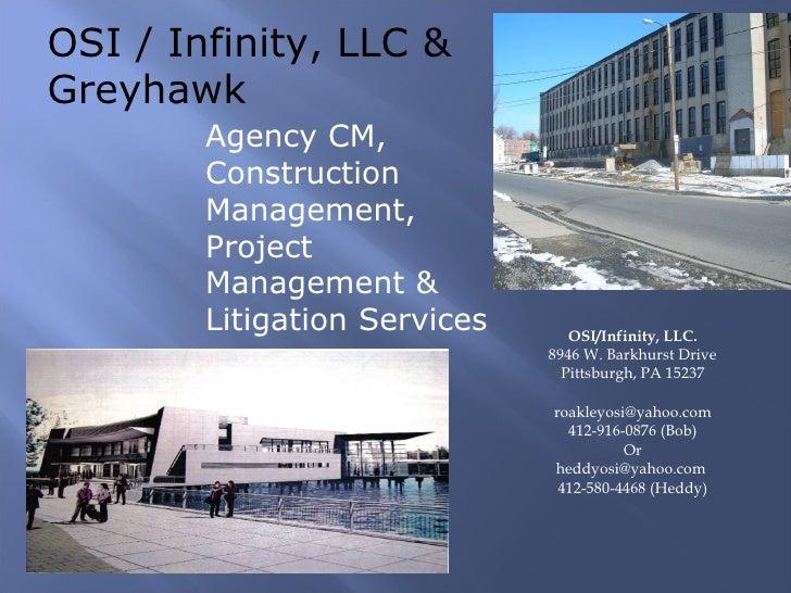 OSI / Infinity LLC ,Power point