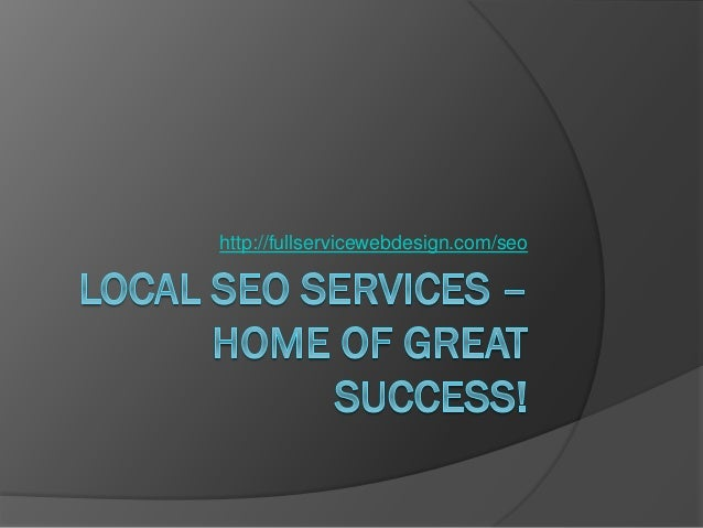 Local SEO Services – Along with your friendly neighborhood!