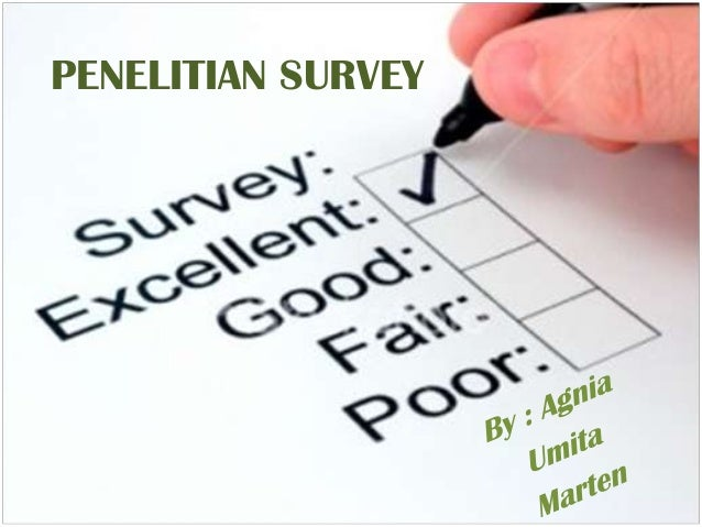 Power point penelitian survey