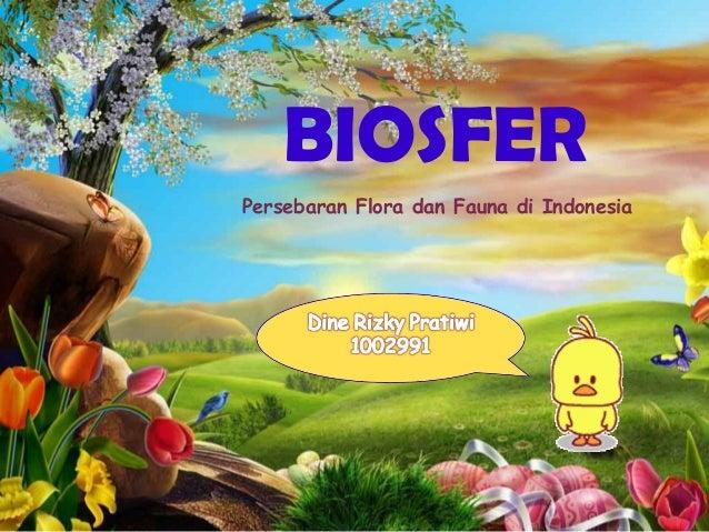 Powerpoint persebaran flora fauna di indonesia