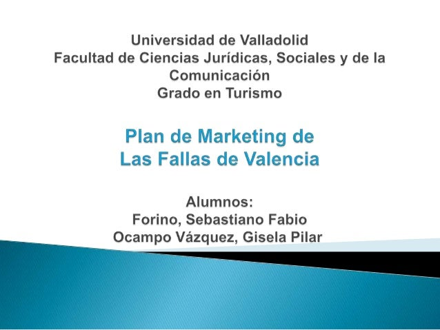 Plan de marketing Las Fallas de Valencia