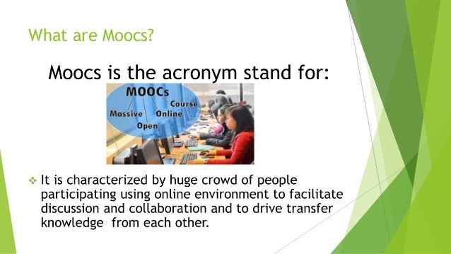 Powerpoint presantion about moocs