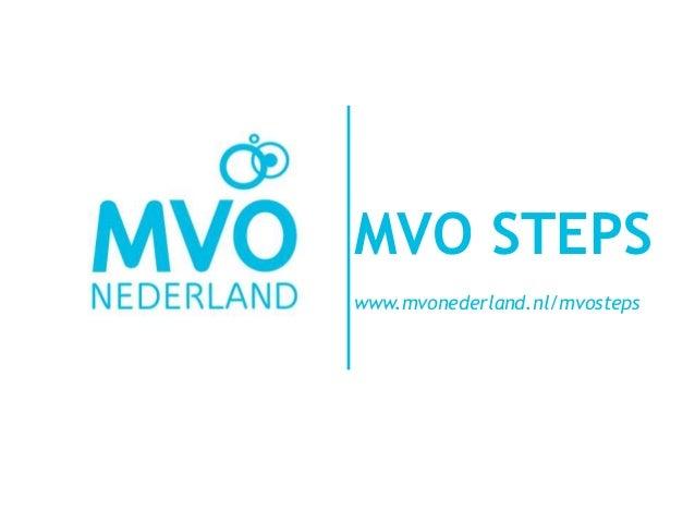 #MVONY13: MVO STEPS: een handige tool voor MVO-beleid en -implementatie