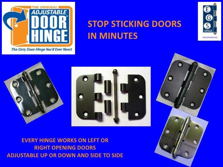 The Original Adjustable Door Hinge