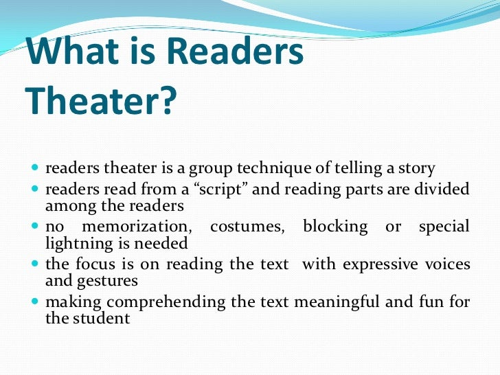 readers theater script