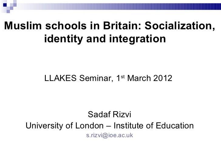 Powerpoint presentation Dr Sadaf Rizvi