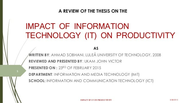 Thesis technology