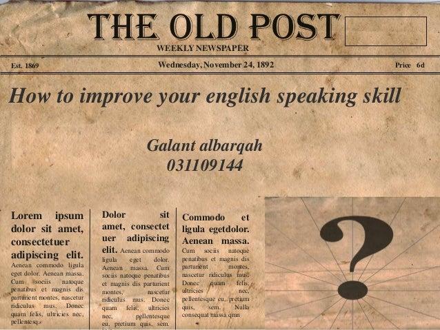 improve speaking skill