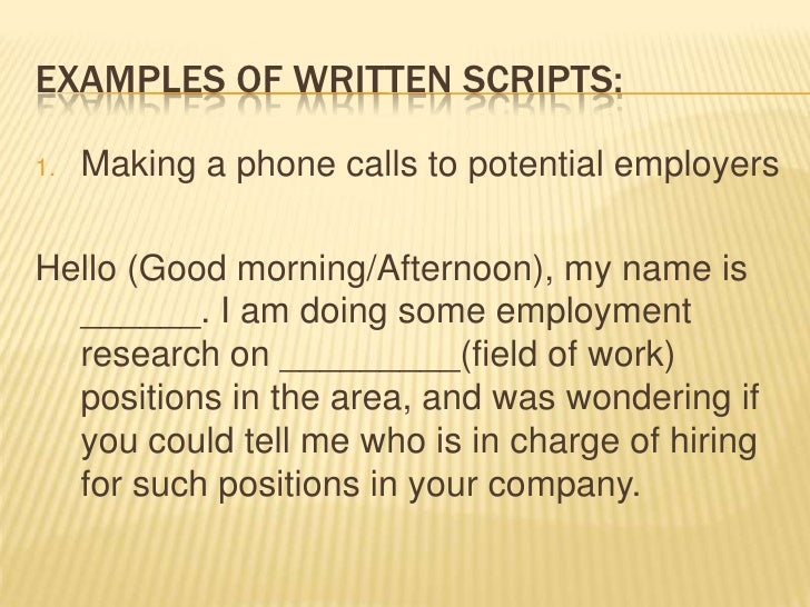 cold calling resume