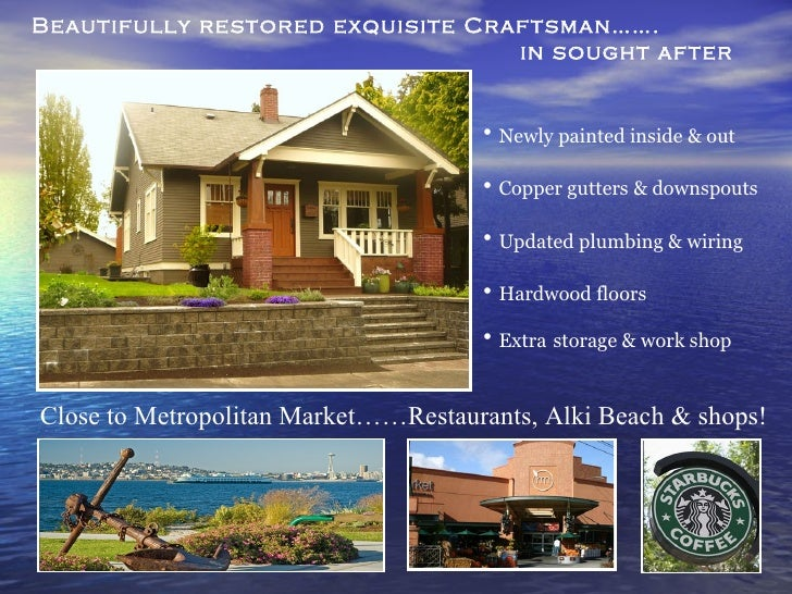 Beautifully restored exquisite Craftsman…….  in sought after Admiral area   Close to Metropolitan Market……Restaurants, Alk...
