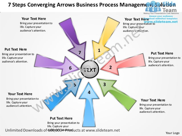 7 Steps Converging Arrows Business Process Management Solution               Your Text Here                               ...