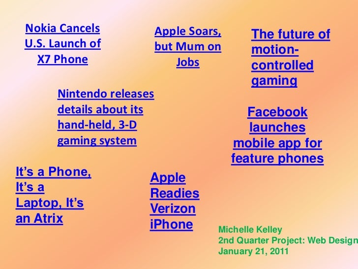 Nokia Cancels             Apple Soars,      The future of U.S. Launch of            but Mum on        motion-   X7 Phone  ...