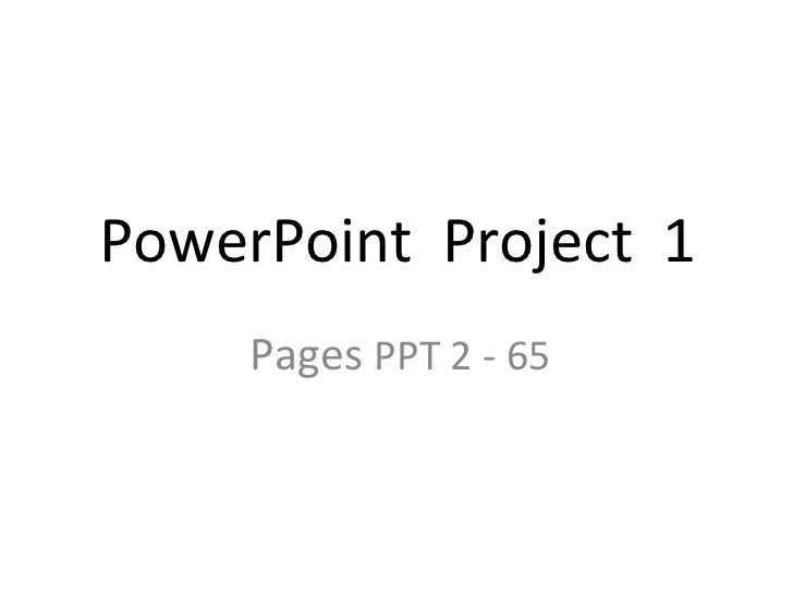 Power point project 1 notes new