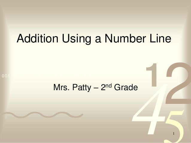 Addition Using a Number Line0011 0010 1010 1101 0001 0100 1011                    Mrs. Patty –     2nd           1        ...