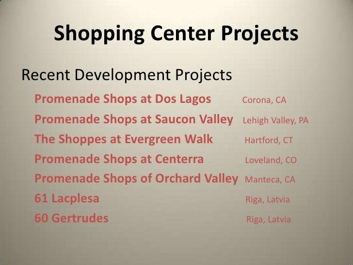 Shopping Center Projects<br />Recent Development Projects<br />Promenade Shops at Dos Lagos Corona, CA<br />Promenade Shop...