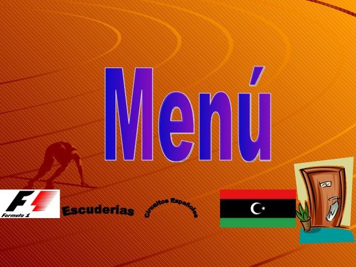 Menú Escuderias Circuitos Españoles