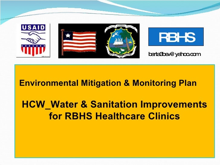 Environmental Mitigation & Monitoring Plan HCW_Water & Sanitation Improvements for RBHS Healthcare Clinics [email_address]...