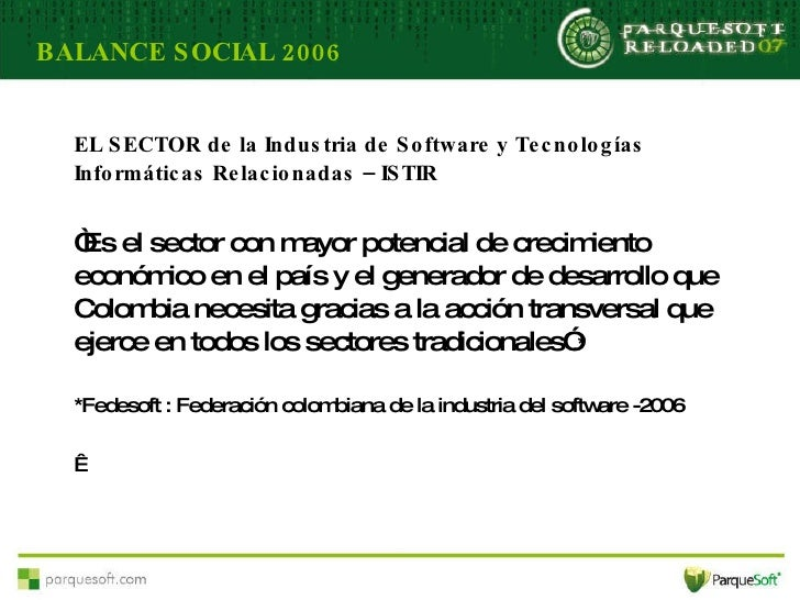 Power Point Reloaded   Balance Social Parque Soft 06 V 3asamblea