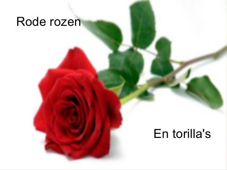 Rode rozen En torilla's