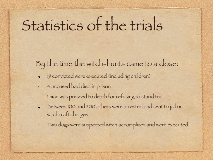 salem witch trials 2 essay The salem witch trials of 1692 was the outcome of multiple factors these factors include jealousy over people, the feel of power/control, and the fear and/or anxiety of.